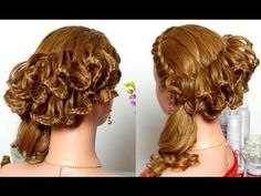 Festive hairstyle with lace braids. Braided hairstyle for Long hair - YouTube