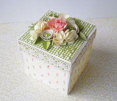 Najnowsza kolekcja GP Cudowne Lata  zawładnęła moim sercem :)))) Papiery są naprawdę urocze...delikatne i pastelowe. Pudełeczko urodzinowe p...