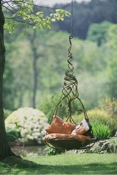 under the tree - hanging seat