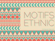 Motifs ethnic chic chic | Morning by Foley
