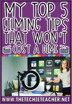 Teachers all around the world are quickly diving into filming both live and prerecorded instructional videos for Distance Learning. Here 5 Filming Tips That Won't Cost a Dime Teacher Blogs, Teacher Hacks, Teacher Resources, Film Tips, World History Lessons, Teaching Tips, Educational Technology, Classroom Management, Upper Elementary