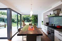 dezente küche glasrückwand