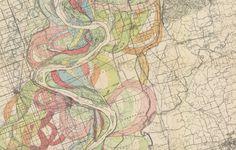 harold fisk mississippi floodplain maps, 1944.