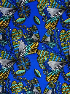 Blue African print fabric by the Yards Ankara fabric by the yard African Supplies African print fabric African wax print fabric Java print African Textiles, African Fabric, Ankara Fabric, African Colors, African Art, Textures Patterns, Print Patterns, Floral Patterns, Motifs Textiles