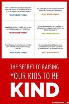 The secret to raising your kids to be kind: Dinner time printable with conversation starters.