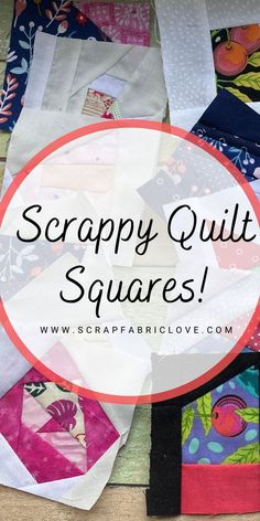 Scrappy Quilt Patterns, Scrappy Quilts, Quilt Blocks, Scrap Fabric Projects, Small Sewing Projects, Sewing Ideas, Fabric Remnants, Fabric Scraps, Crumb Quilt