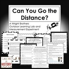 The Wright Brothers - Outdoor Learning Lab and Measurement