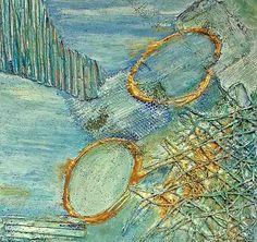 """Renate Horn, """"Serie Materialmix II, : Rhapsody in `Schilf"""" (1) Mit einem Klick auf 'Als Kunstkarte versenden' versenden Sie kostenlos dieses Werk Ihren Freunden und Bekannten."""