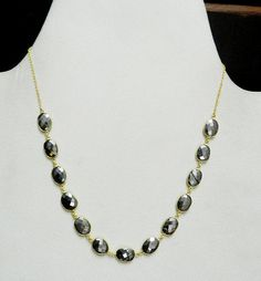 Pyrite gemstone bezel set 925 sterling silver 18k gold plated chain necklace #handmade #chain #magicalcollection #Gemstone #necklaceJewelry #sterlingsilver #necklace #brass #goldplated