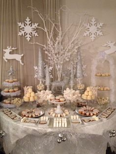 Most beautyful candy bar! Candy Bar by Cristina Dragna www….- Most beautyful candy bar ! Candy Bar by Cristina Dragna www.ro Most beautyful candy bar! Candy Bar by Cristina Dragna www. Christmas Baby Shower, Baby Shower Winter, Baby Winter, Winter Theme, Winter Snow, Snowflake Baby Shower, Winter Party Decorations, Baby Shower Decorations, Winter Wonderland Decorations