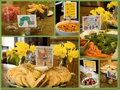 Baby Shower- book theme- menu related to children's books