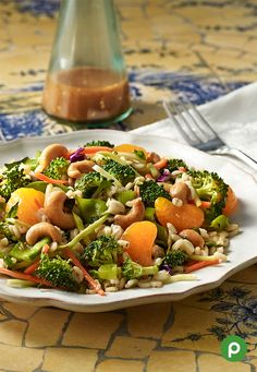 Try this lean, green protein machine. Get the recipe for our Cashew Broccoli Barley Salad.