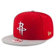 big sale c27dd 97702 Men s Houston Rockets New Era Red Gray Current Logo Star Trim Commemorative  Champions Snapback