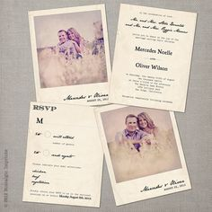 Love this Invitation idea; it'd be really cool if you went out and took some photos at the actual wedding site or somewhere in Chattanooga; very fall festive!