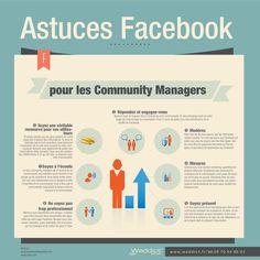 Infographie | Astuces Facebook pour les Community Managers - Weddict : agence web & référencement