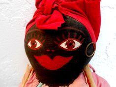 Antique Black Memoriablia Cloth Doll Clothpin by DollsInARow, $28.00