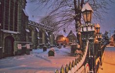 Ashford kent. Snowy church.