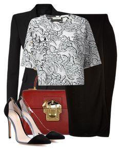 """statement shirt and Bee Bag"" by jacisummer ❤ liked on Polyvore featuring Balmain, Dolce&Gabbana, Josh Goot, Balenciaga and Gianvito Rossi"