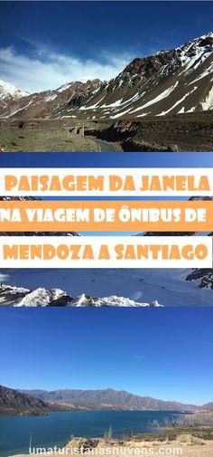Vista da janelinha do ônibus na viagem que vai de Mendoza na Argentina para Santiago no Chile. Um trajeto rodeado por paisagens maravilhosas, passando pela Cordilheira dos Andes.
