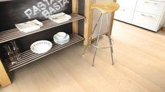 Boen plank 138 Ask andante hvit matt lakk Stavanger, Engineered Oak Flooring, Stool, Chair, Vinyl, Plank, Rustic, Living Room, White Flooring