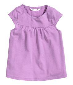 Áo bé gái chính hãng H&M Cotton Top Purple giá rẻ – Hàng Mỹ Chính Hãng