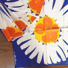 Thrift store find of the day! Set of vintage #scuda napkins for $1.50  #mod #retro #pattern #flowers #textile