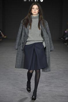Клетчатое классическое пальто
