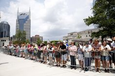 Fans line Music City Walk of Fame Park anxiously awaiting the arrival of Sam Moore and the Alabama band. #Nashville #MusicCity