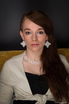White diamond  elegant classy earrings by littleblacklace on Etsy, $13.00