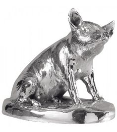 sterling silver pig ornament - Such a Babe!