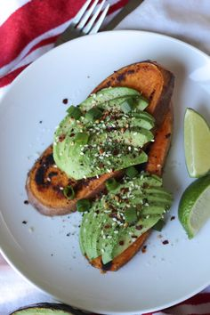 Paleo Avocado Toast--Whole 30 compliant. We added two eggs to ours for a protein but it would also be great with compliant sausage or bacon Avocado Toast, Avocado Breakfast, Paleo Breakfast, Breakfast Recipes, Breakfast Ideas, Brunch Recipes, Avocado Dessert, Dinner Recipes, Breakfast Casserole