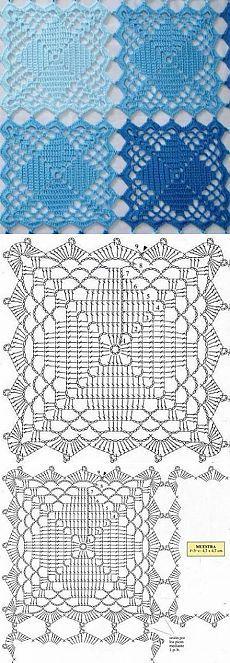Квадраты крючком / Вязание крючком / Вязание крючком для начинающих