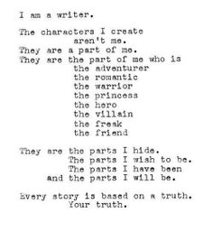 The characters i create