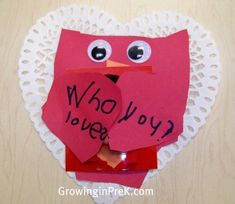 A cool preschool Sunday school or small group craft for Valentine's day or any other day talking about love