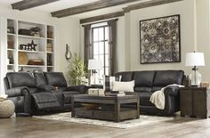 The Milhaven Collection by Signature Desgins from Ashley at Trends Furniture.