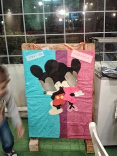 κατασκευή για παιδικό πάρτυ απο παλέτα