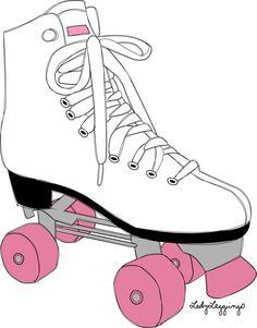 Roller Skating Party, Skate Party, Boli 3d, Pink Wheels, Roller Derby Girls, Roller Rink, Mom Tattoos, Cute Illustration, Disney Channel