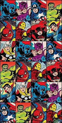 Marvel Comics Classic Avengers Cotton Beach Bath Towel 70 x Marvel Comics Superheroes, Marvel Comic Books, Marvel Art, Marvel Heroes, Marvel Avengers, Marvel Universe, Fictional Heroes, Arte Dc Comics, Batman Art