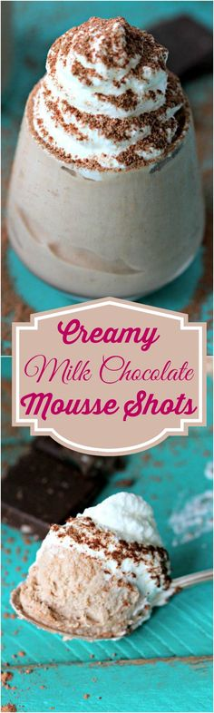 Milk Chocolate Mousse Shots - Peas and Peonies