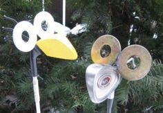 Made from recycled items and golf clubs. $25
