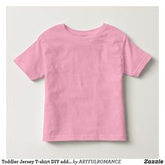 Toddler Jersey T-shirt DIY add Photo Image Quote