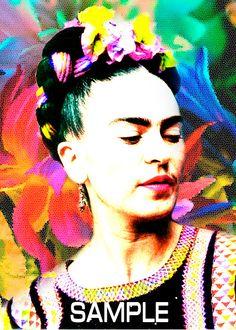 Frida Kahlo image, Frida Kahlo, Download file, JPEG file, frida kahlo portrait, art for the bedroom, art for lounge room, by giftsforloved on Etsy