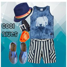 """""""Cool Blues with the Splashes of Orange"""" by boysbecool on Polyvore"""