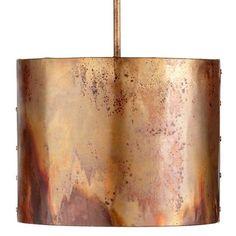 Cyan Design   copper drum pendant: