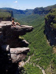 Chapada Diamantina, Brazil. An amazing view with a terrifying drop!