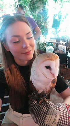 This is Hina the barn owl. I met her in Tokyo.