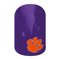 Clemson Tigers... I'm pretty sure this is a sports team, but I like it because of the paw print, and I love that it's purple and orange!! It will be so perfect when I got to dog shows and craft sales ;p