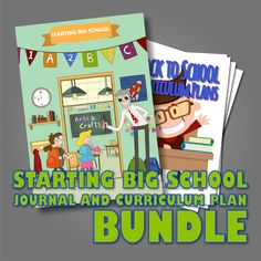 """We are delighted to bring you this 'Starting Big School' bundle which combines a Group Learning Journal from our """"Documentation Made Simple Series"""" and our """"Back to School"""" Curriculum Plan Pack, which includes a number of activities on the theme of """"Back to School""""."""