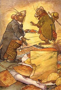 The Town Mouse and the Country Mouse illustration by Charles Folkard | Flickr - Photo Sharing!
