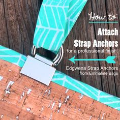 Emmaline Bags: Sewing Patterns and Purse Supplies: How to Attach Strap Anchors - A Hardware Installation Tutorial